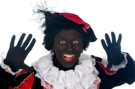 Zwarte Piet is a Dutch tradition during Sinterklaas, which is celebrated in December the fifth. Stock Photo - 13218634
