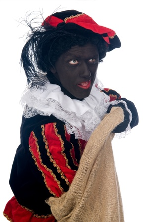 'black pete': Zwarte Piet is a Dutch tradition during Sinterklaas, which is celebrated in December the fifth.
