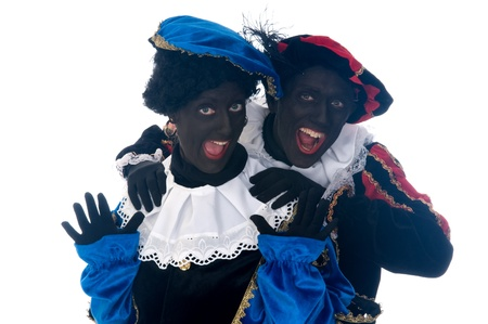 Zwarte Piet is a Dutch tradition during Sinterklaas, which is celebrated in December the fifth. Stock Photo - 13218620