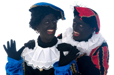 Zwarte Piet is a Dutch tradition during Sinterklaas, which is celebrated in December the fifth. Stock Photo - 13218640