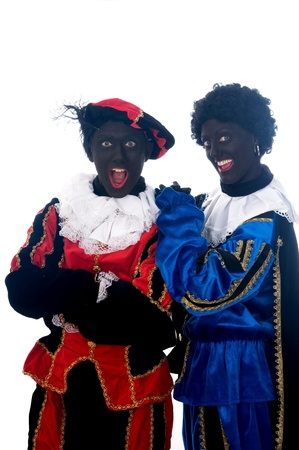 Zwarte Piet is a Dutch tradition during Sinterklaas, which is celebrated in December the fifth. Stock Photo - 13218637