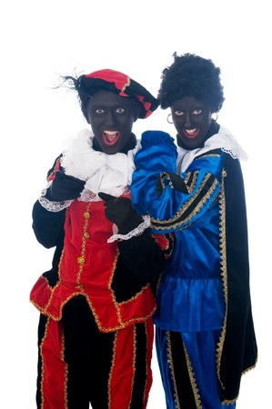 Zwarte Piet is a Dutch tradition during Sinterklaas, which is celebrated in December the fifth. Stock Photo - 13218642