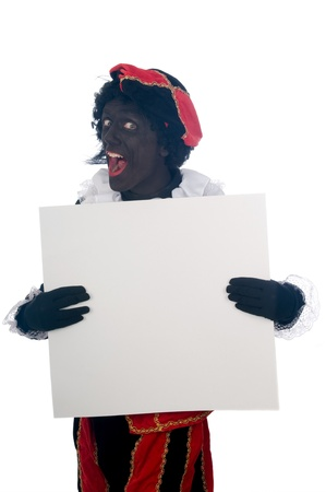 Zwarte Piet is a Dutch tradition during Sinterklaas, which is celebrated in December the fifth. Stock Photo - 13218626