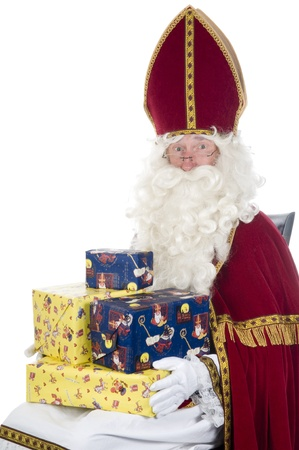 sinterklaas: Sinterklaas and some presents Stock Photo