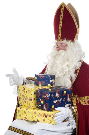 nicolas: Sinterklaas and some presents Stock Photo