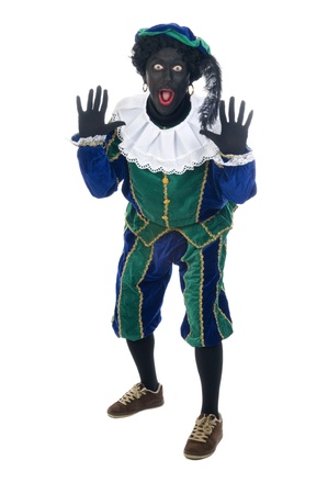 Zwarte Piet is a Dutch tradition during 'Sinterklaas', which is celebrated in December the fifth. photo