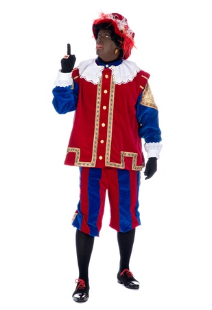 Zwarte Piet is a character, part of a  Dutch tradition called Sinterklaas, which is celebrated at December the fifth. Stock Photo