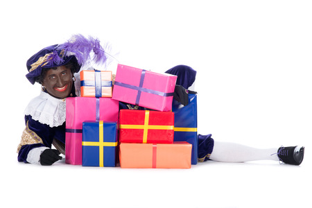 expressed: Zwarte Piet is a character, part of a  Dutch tradition called  Sinterklaas , which is celebrated at December the fifth