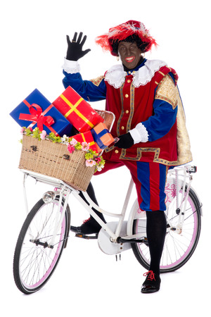 Zwarte Piet is a character, part of a  Dutch tradition called  Sinterklaas , which is celebrated at December the fifth  photo