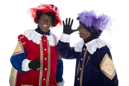 zwarte piet: Zwarte Piet is a character, part of a  Dutch tradition called  Sinterklaas , which is celebrated at December the fifth