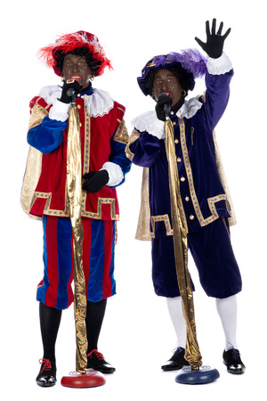 zwarte: Zwarte Piet is a character, part of a  Dutch tradition called  Sinterklaas , which is celebrated at December the fifth