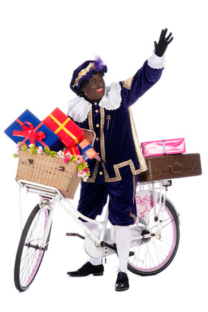 zwarte piet: Zwarte piet is going to bring the presents to the children