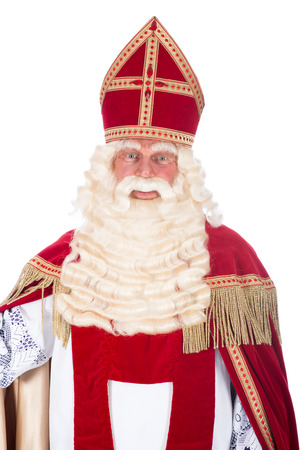 Portrait of Santa Claus on a white  photo