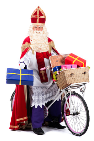 studioshoot: Santa Claus on a bike, going to bring presents to the children