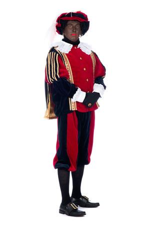 'black pete': Portrait of Zwarte Piet on a white background