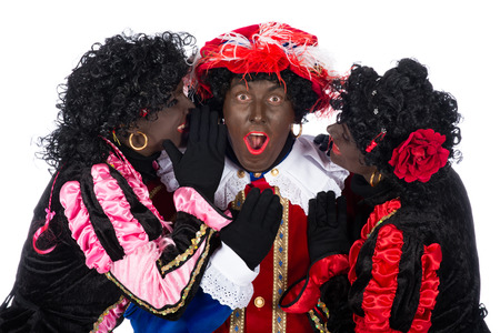 zwarte: Zwarte Piet is in love, he is two beautiful colleagues