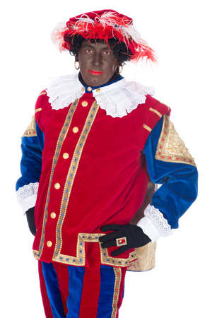 black pete: Portrait of Zwarte Piet on a white background
