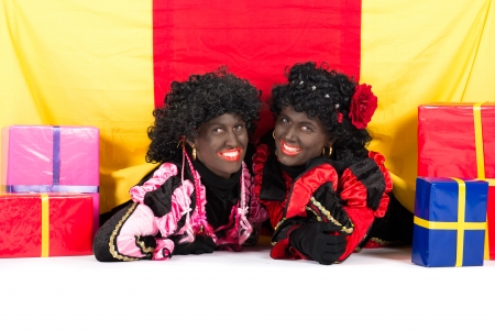 'black pete': Zwarte Piet (Black Pete) is a character, part of a  Dutch tradition called Sinterklaas, which is celebrated at December the fifth.