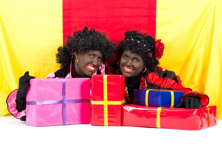 zwarte: Zwarte Piet (Black Pete) is a character, part of a  Dutch tradition called Sinterklaas, which is celebrated at December the fifth.