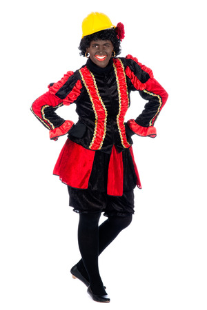 Zwarte Piet (Black Pete) is a character, part of a  Dutch tradition called 'Sinterklaas', which is celebrated at December the fifth. photo