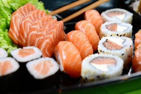 japanese food: Comida japonesa Foto de archivo