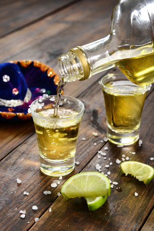 Serving tequila shoot Stock Photo
