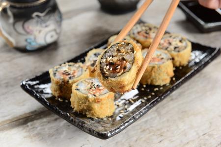 Hot sushi Stock Photo
