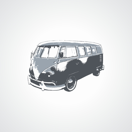 utilities: Illustration of stylized car in two colors