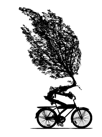 Cycling is good for nature.