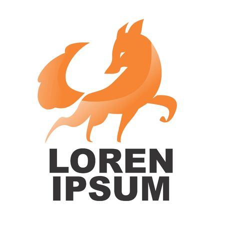 Stylized Fox in orange color with gradient
