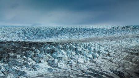 Vast icy glacier of greenland