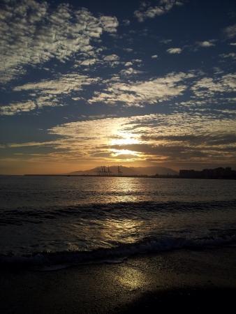 Sunset Mlaga bay