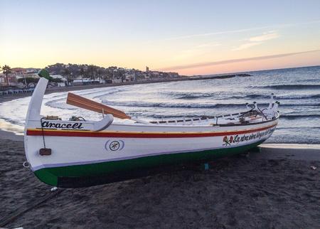 Jabega boat from Malaga 版權商用圖片