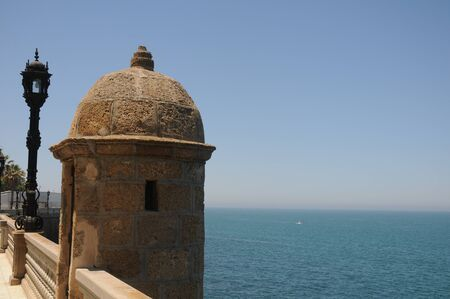 Watchtower in Alameda Apodaca, Cadiz Bay 版權商用圖片