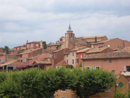 Roussillon village at Luberon the Provence France Stockfoto