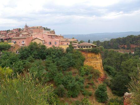 Roussillon village at Luberon the Provence France 版權商用圖片
