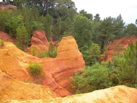 Quarry ocher at Roussillon Village Provence France 版權商用圖片