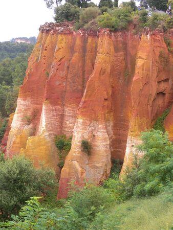 Quarry ocher at Roussillon Village Provence France Stockfoto