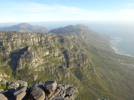 View over Camps Bay, Table Mountain, South Africa, Africa