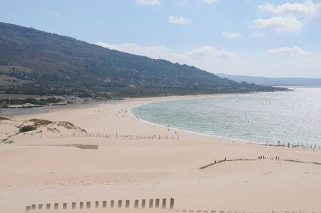 Great dunes of the Valdevaqueros beaches of Tarifa in Cádiz Spain