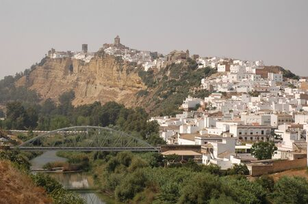 Panoramic view of Arcos de la Frontera village in Cadiz