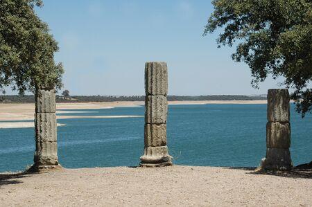 Roman ruins of Augustobriga Valdecañas Caceres 版權商用圖片