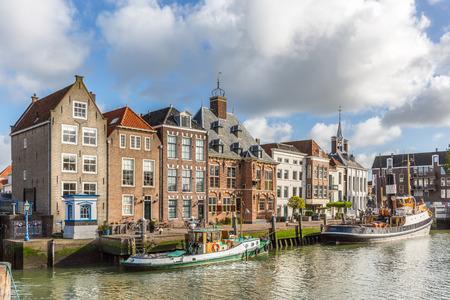 Historical buildings on the Stadhuiskade, Maassluis, The Netherlands