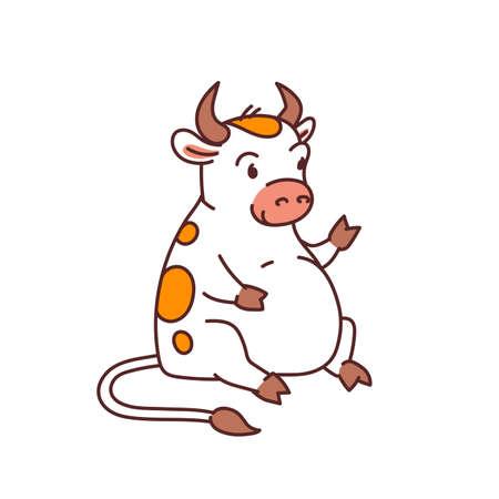 White metal bull - chinese new year symbol
