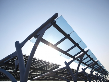 glass panel: Solar power panel