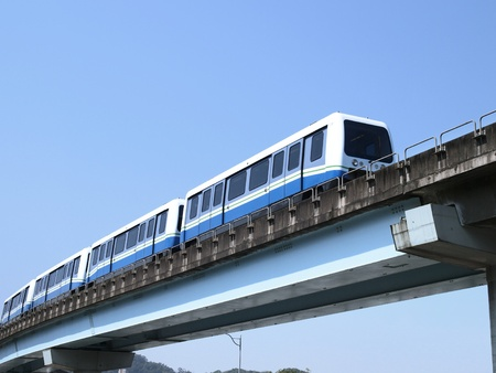 flyover: Mass rapid transit Stock Photo