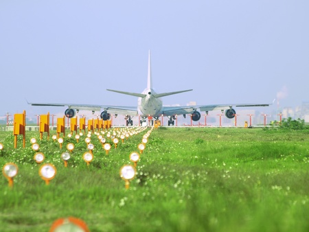 Airplane ready for take off Stock Photo - 9397407