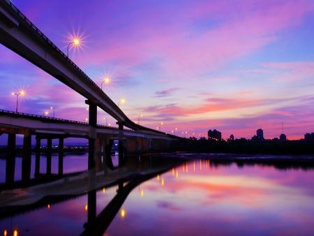 riverside: Sunset in riverside