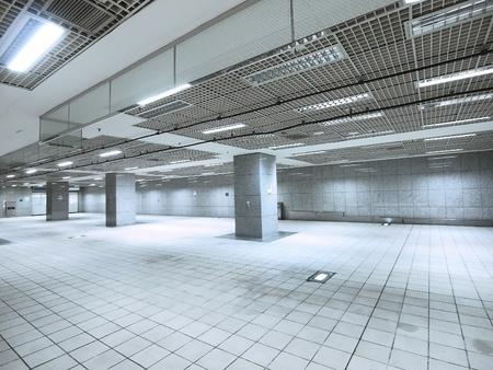 passage: Underground passage in modern building Stock Photo