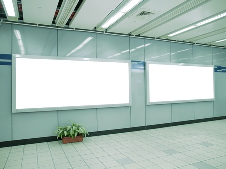 Blank billboard in underground passage Stock Photo - 9448984